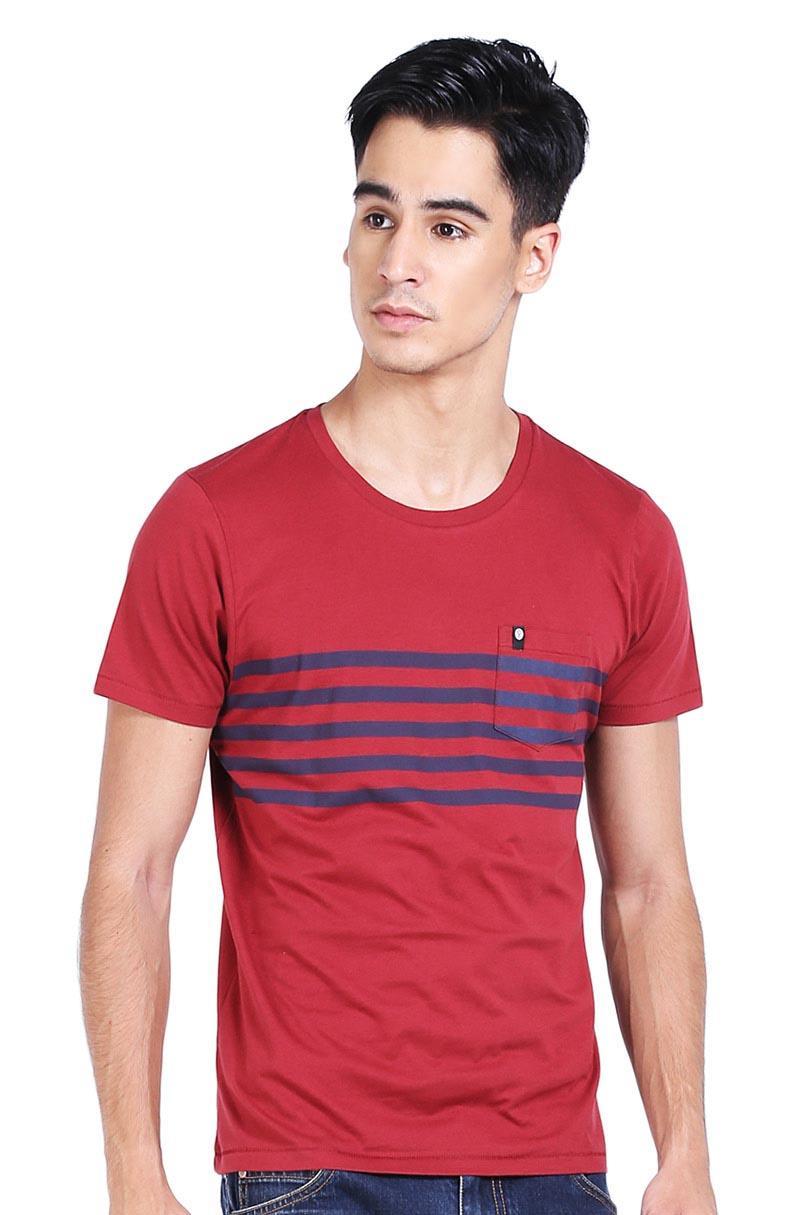 Greenlight T-Shirt Kaos Pria Men Tshirt Red
