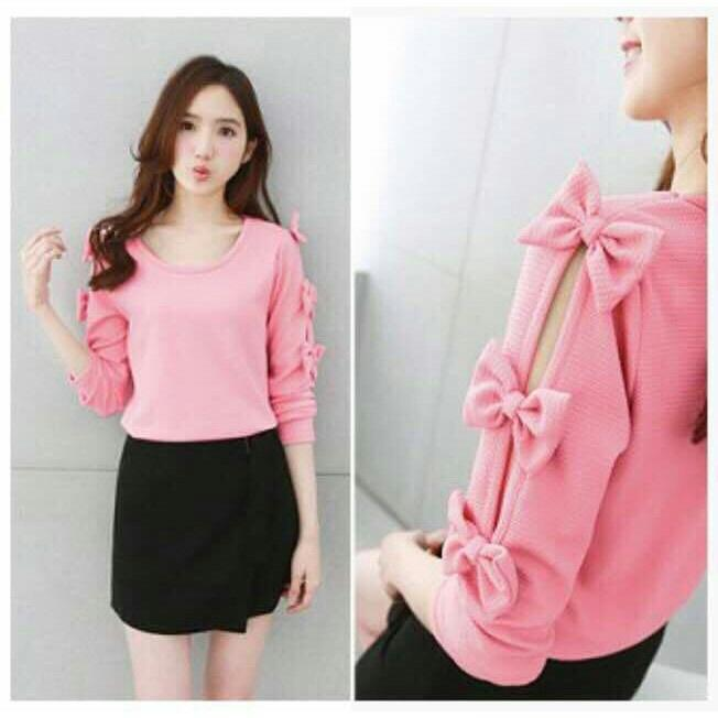 ZOEFASHION BLOUSE CHACHA PITA - PINK NO.280