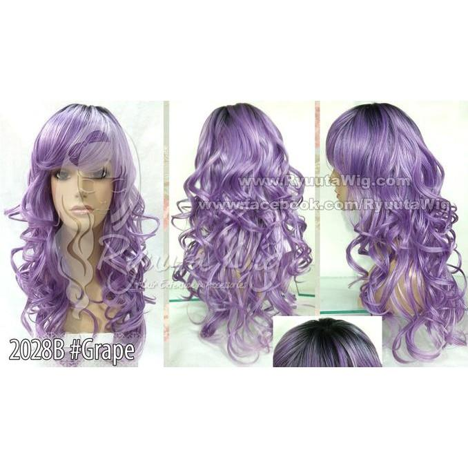 WIG OMBRE LONG WAVY CURL CURLY / PANJANG KERITING 2 - STYLE
