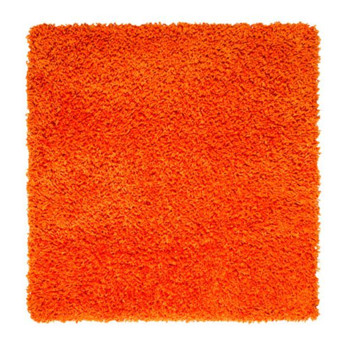 IKEA HAMPEN Karpet tebal 80x80 cm, mudah dirawat, oranye