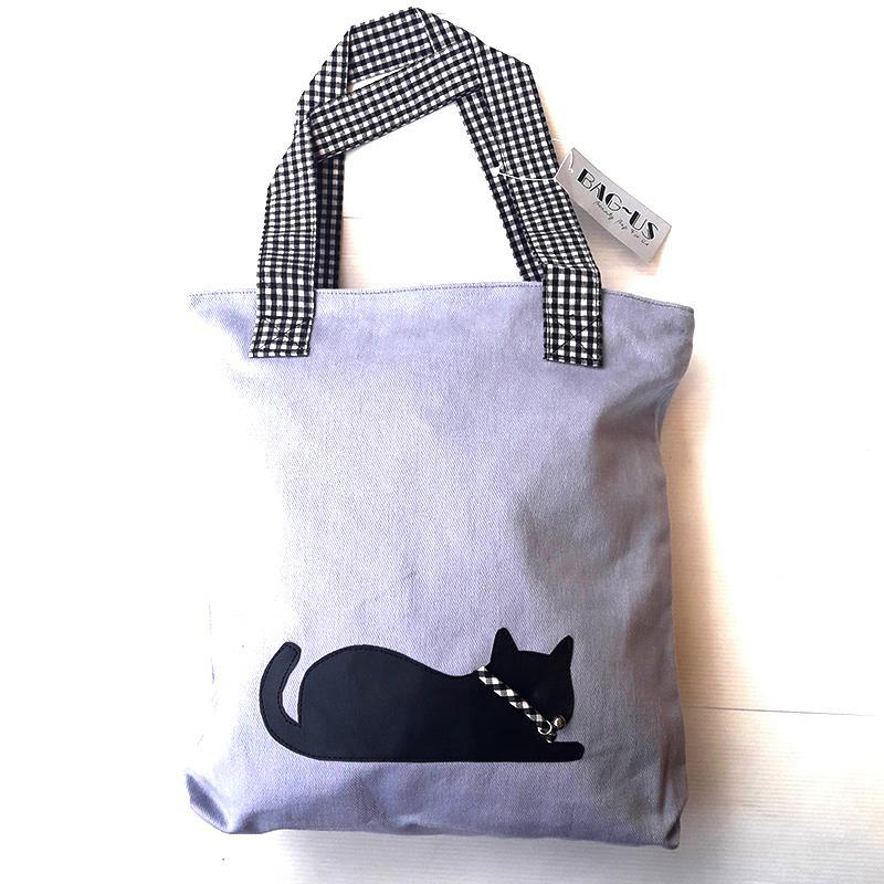 Vienna Linz Tas Wanita Cat Bell Bag Kuliah Sekolah Jalan Fashion Bahan Kanvas