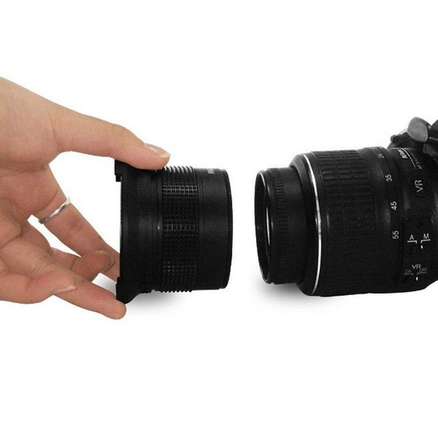 Uinn 0.35X58 Mm 52 Mm Lensa Mata Ikan Digunakan Dalam Canon 70D 60D 7D 6D 700D 650D 600D 550D 500D hitam