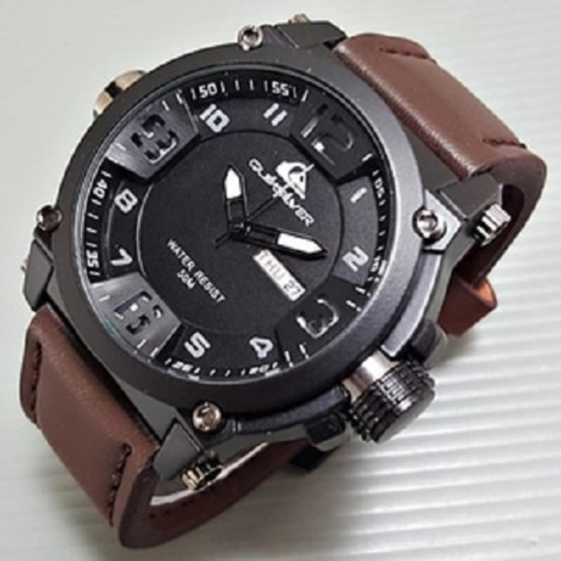 Swiss Army Jam Tangan Casual Pria Leather Strap SA5180 Chrono Detik Source · Gambar