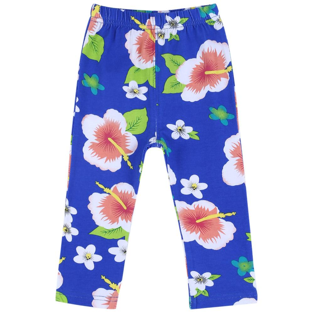 Infant Baby Girl Child Sweet Print Elastic Long Pants Leggings-Blue(9m).