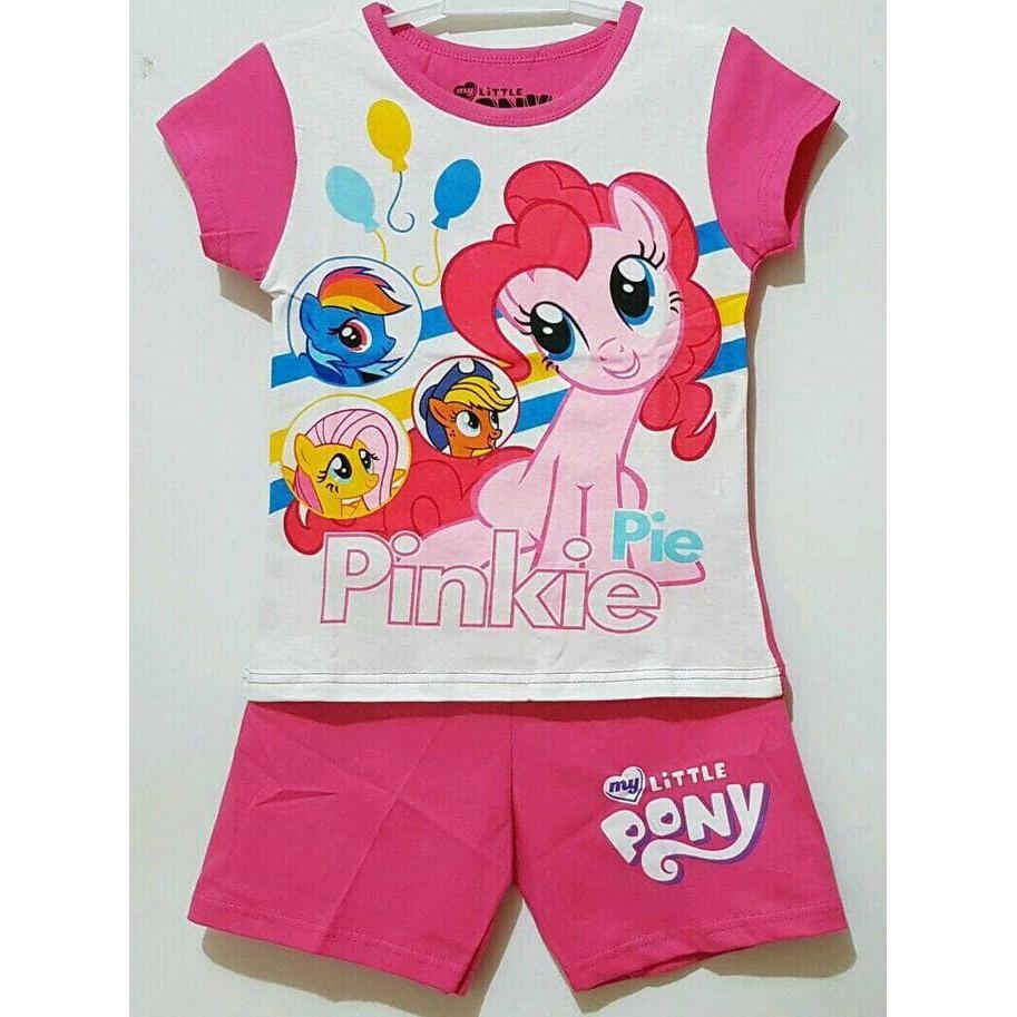 Cek Harga Baru Promo Sale Baju Setelan Anak Perempuan Mickey Mouse Mikimouse Size 1 6 My Little Pony Pinkie Pie Karakter