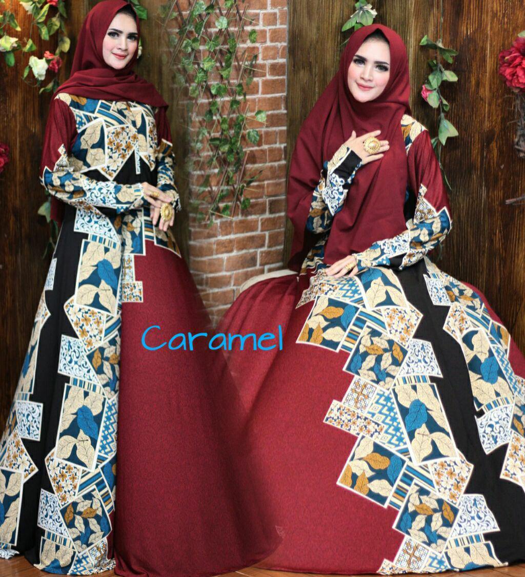 Nurulcollectin-Baju dress gaun murah/gamis syari terbaru)gamis motif unik/gamis batik/gamis katun size XL/gamis klok 4m