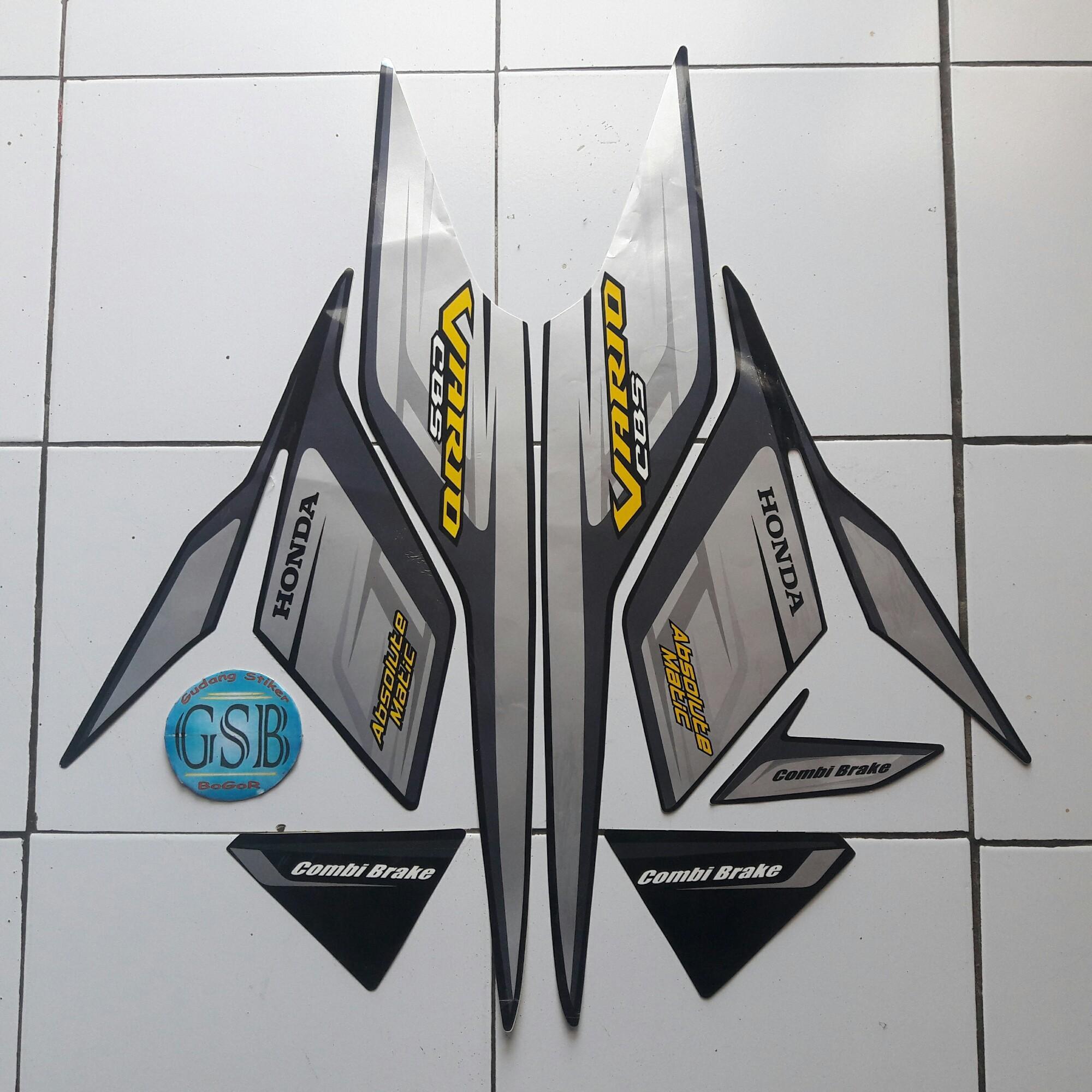 Stiker striping motor honda vario cbs 110 2009 hitam