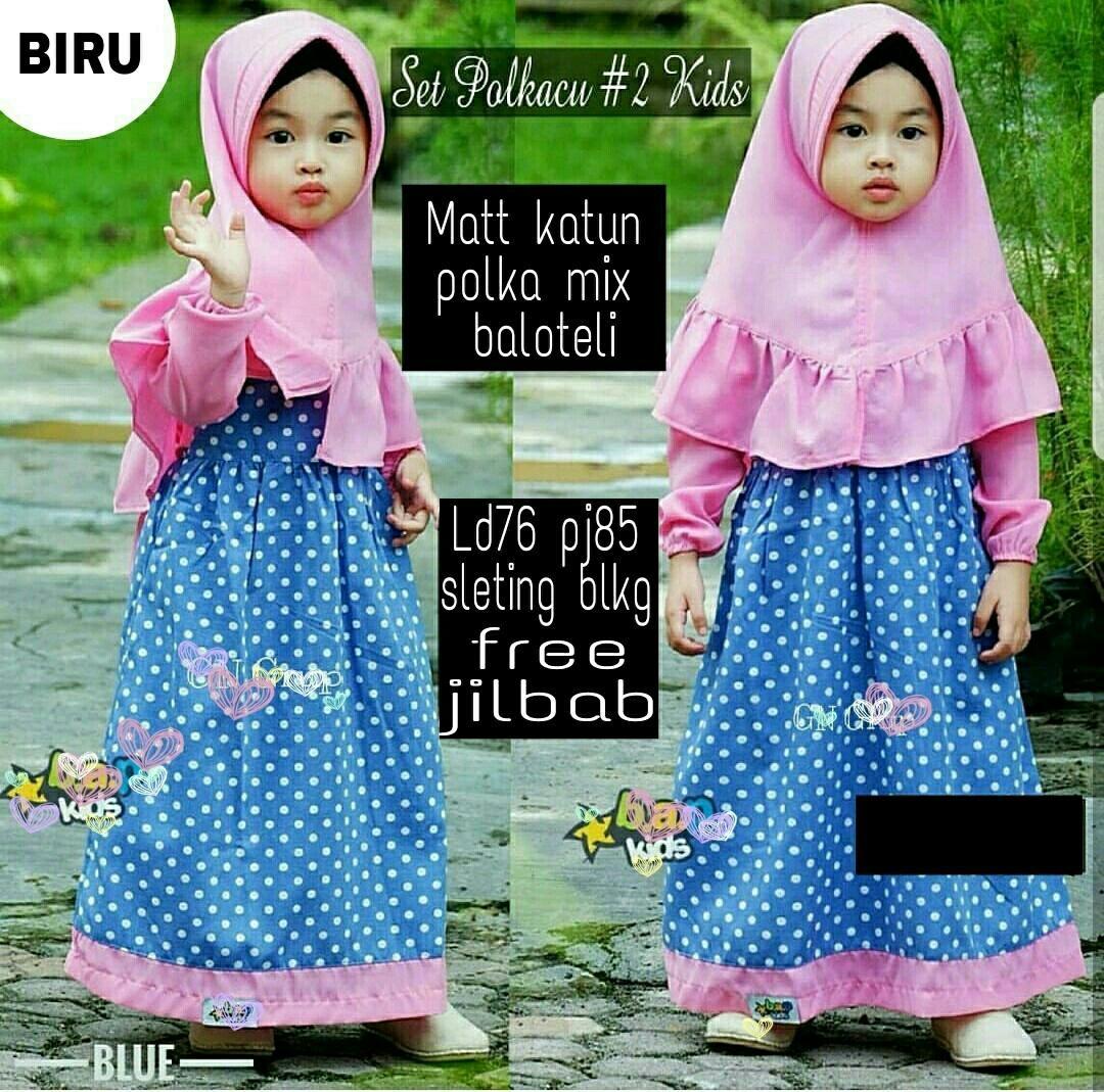Honeyclothing Dress Muslim Anak Polcu / Baju Hijab Anak Perempuan / Gamis Anak Cewek / Baju Muslim Anak Perempuan Terbaru