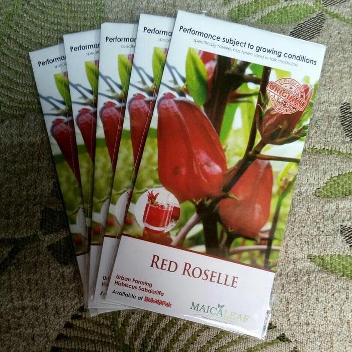 PROMO Benih Bibit Herbal Bunga Rosela Merah RED ROSELLE Herb TERMURAH