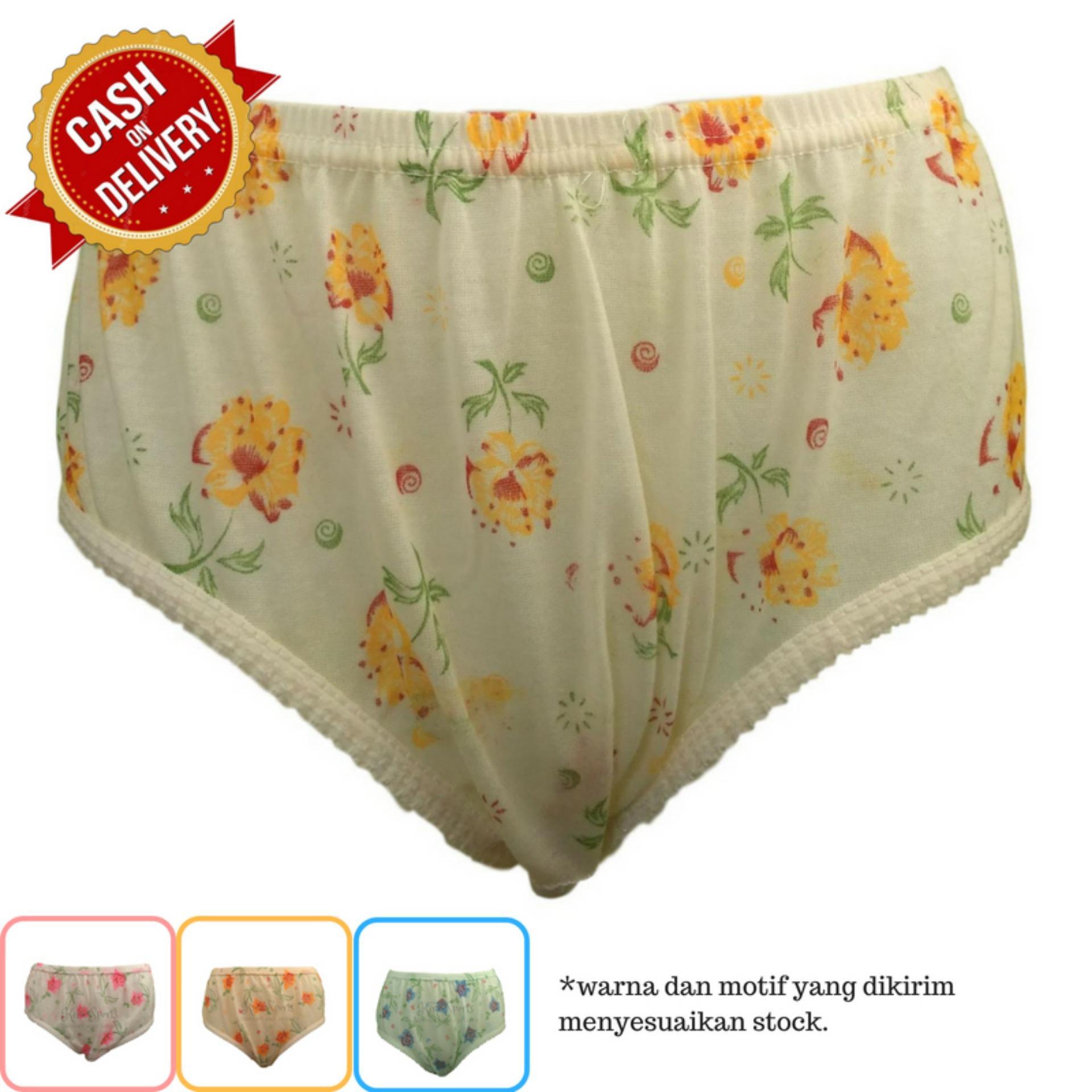 Kira Sports Celana Dalam Wanita Sexy / Bukan Merk Sorex Jumbo Transparan G-string Boxer Untuk Ibu hamil / Aneka Motif Bunga Renda Seksi Terbaru/ Dalaman Perempuan Katun Dewasa Murah ANK708 - Bisa COD