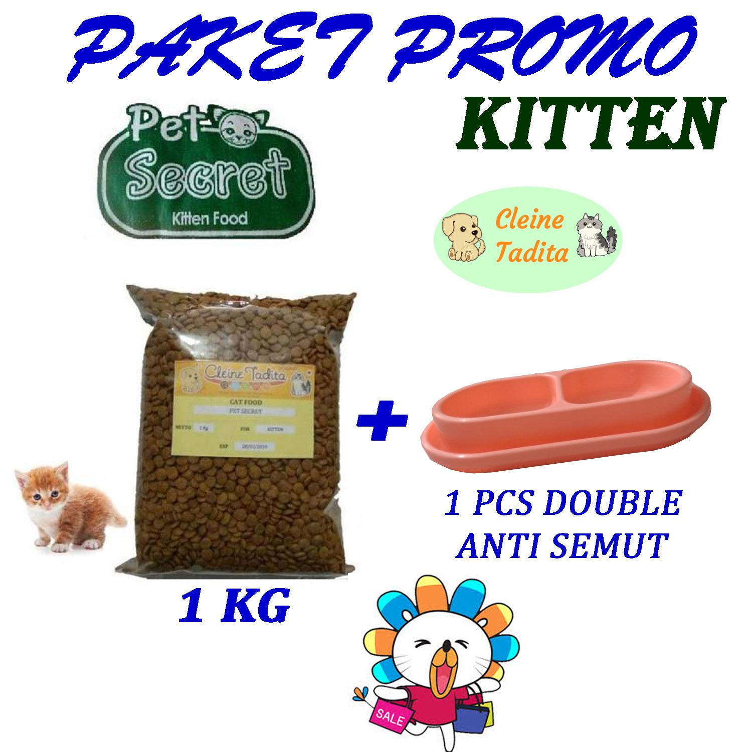 Promo makanan kucing Pet Secret Kitten - Cleine Tadita Petshop