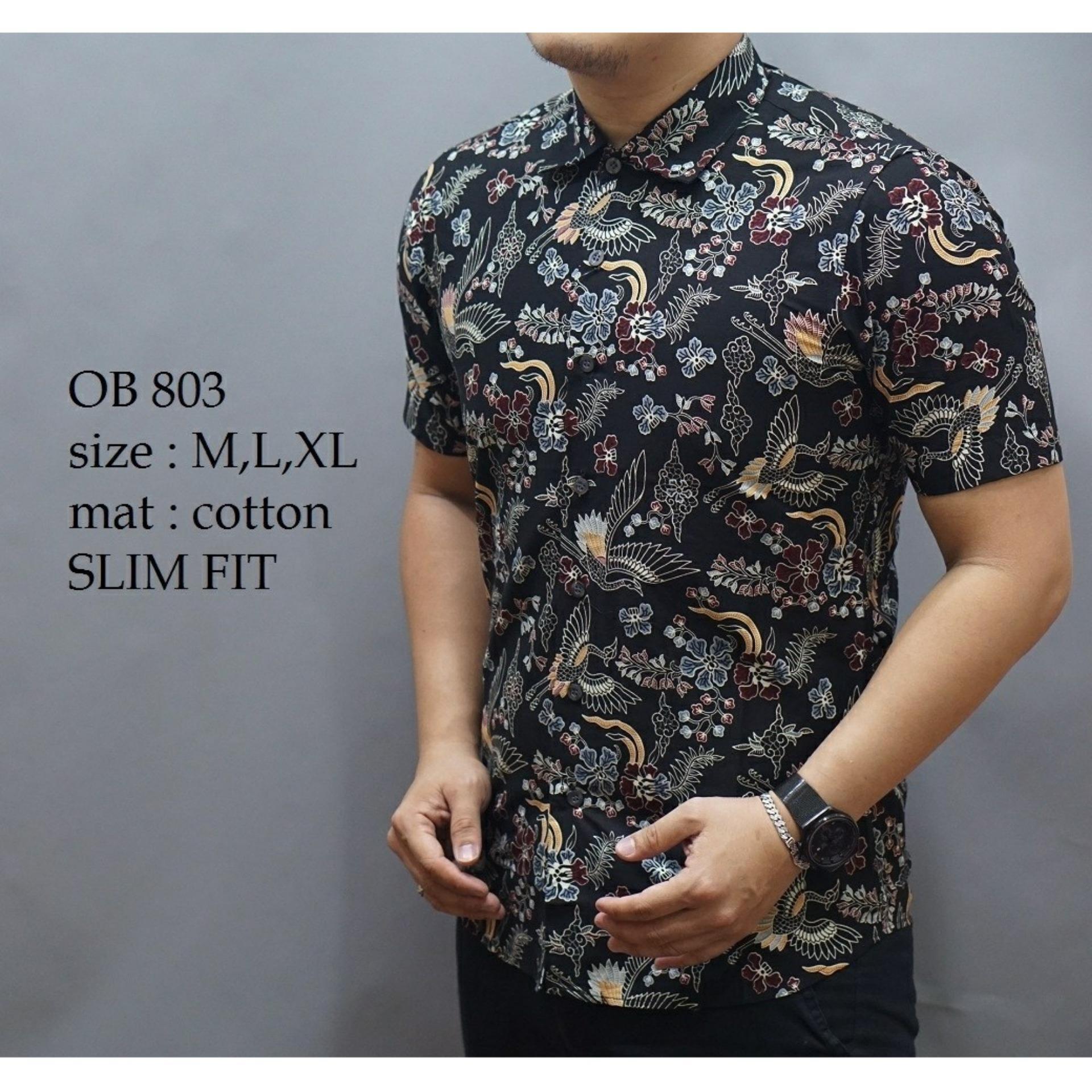 Danar Hadi Kemeja Batik Pria Lengan Pendek Jingga Spec Dan Daftar Nulaba Sby Parang Urang Bajel Hitam 100 Cotton Ob609