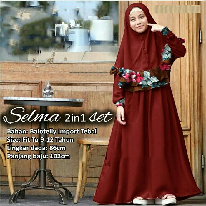 Honeyclothing Dress Muslim Anak Yasnia / Dress Anak Perempuan / Baju Muslim Anak / Gamis Anak