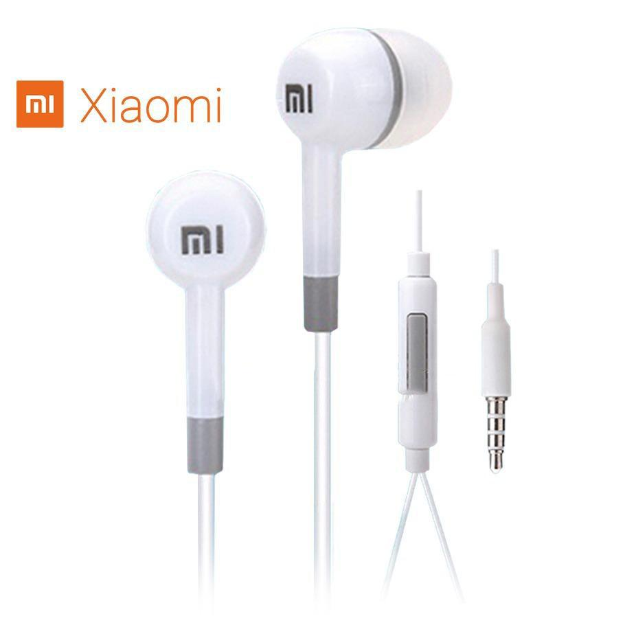 Headphone Headset Xiaomi Mi Piston Huosai Earphone Oem Silver Hifi 35mm Stereo In Ear Headphones Basic Putih