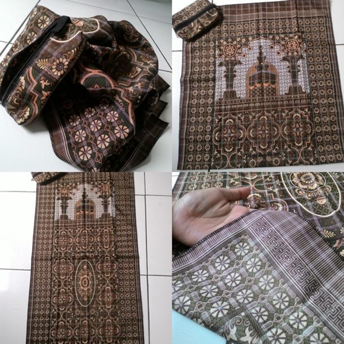 Sajadah Batik Seri Masjid CokatUngu Pouch Sleting