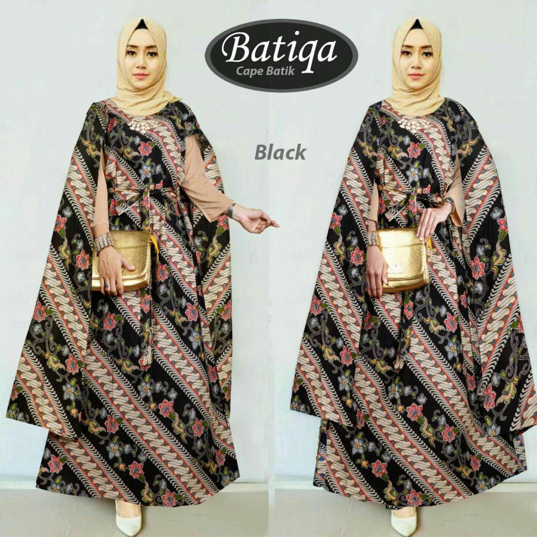 Akira kaftan batik wanita muslim cape batiqa