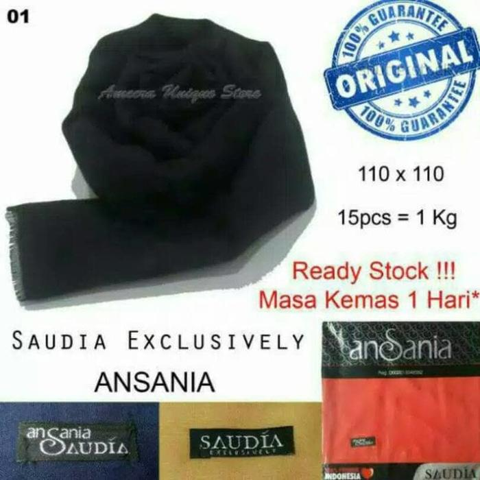 [Ready Stock]Jilbab Segiempat Rawis Original Saudi Ansania