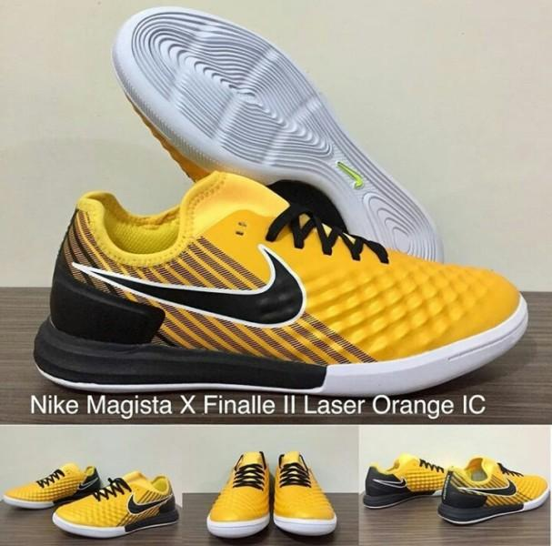 SEPATU FUTSAL NIKE MAGISTA X FINALLE II LASER ORANGE IC + GRADE PREMIUM + BOX ORIGINAL !