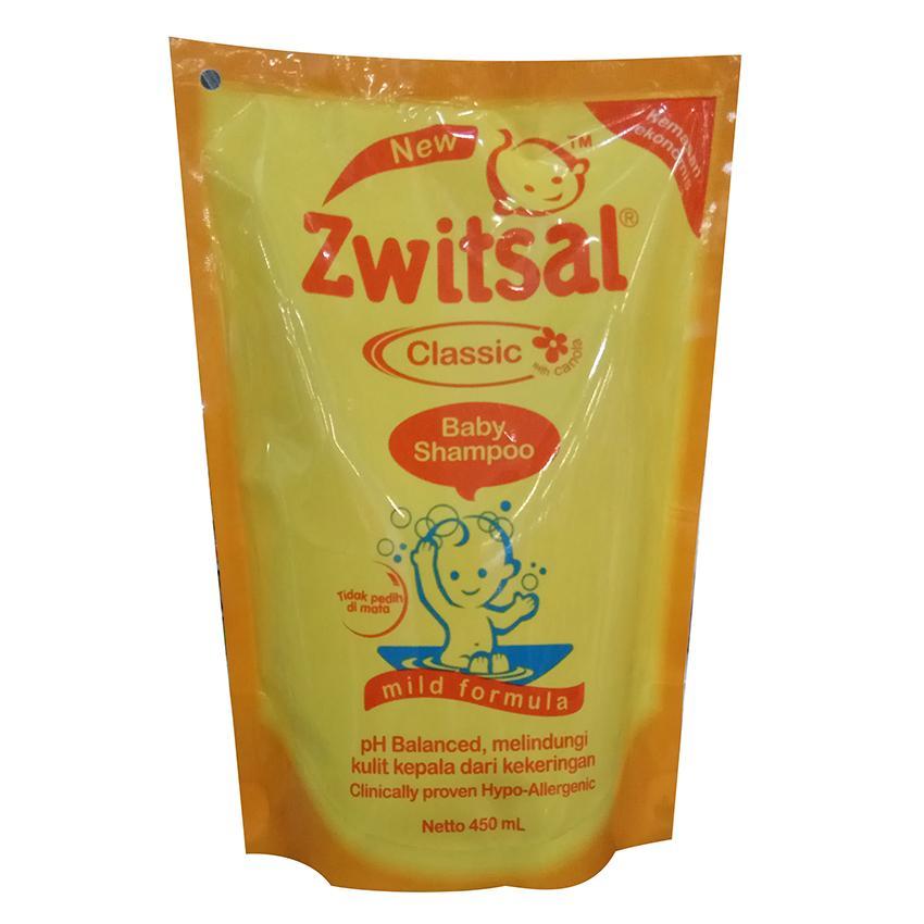 Zwitsal Baby Shampoo Classic Mild Formula Refill - Pouch - 450mL