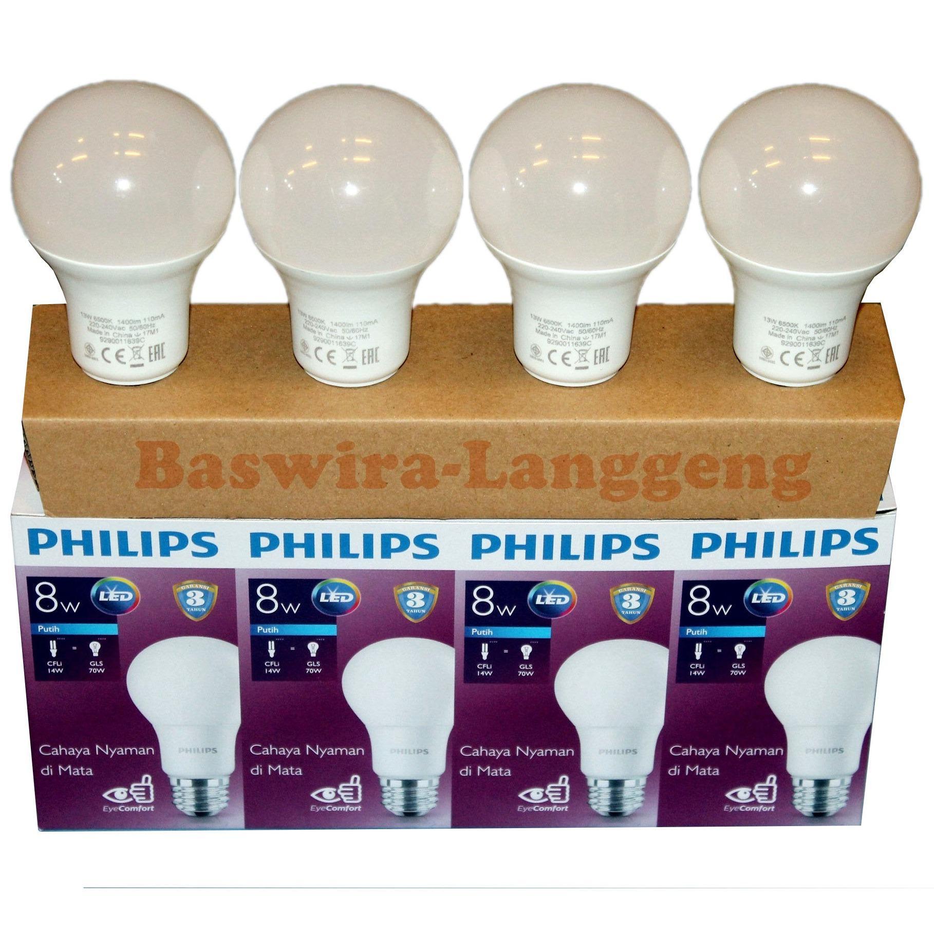 Philips Lampu Led Bulb 105 Watt E27 3000k 230v Kuning 2 Buah Ledbulb 13 100w Bundling 8 Unicef Beli 3 Gratis 1