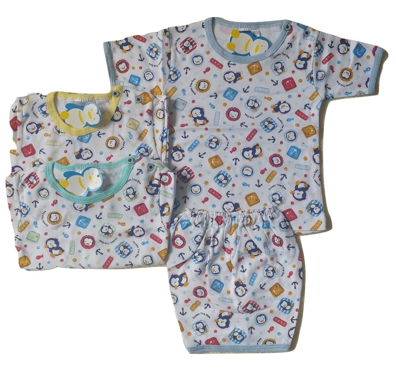 Jelova Angela Setelan Baju Pendek Baby Bayi PUKU 6-12 Months - Mixcolours