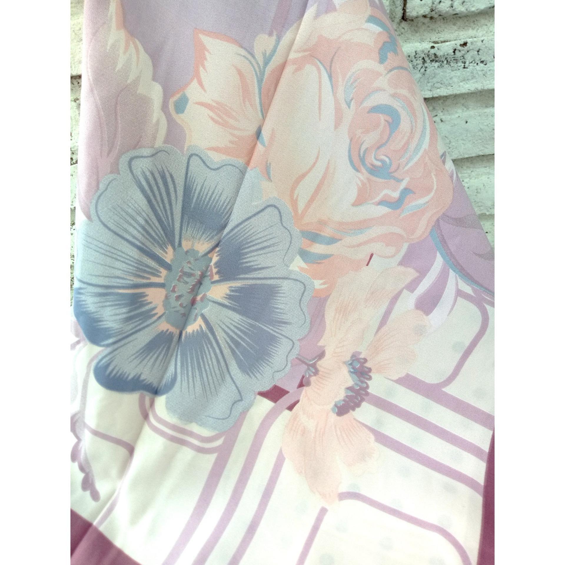 ... Hijab Segiempat Printing Flower Poly Cotton - 3