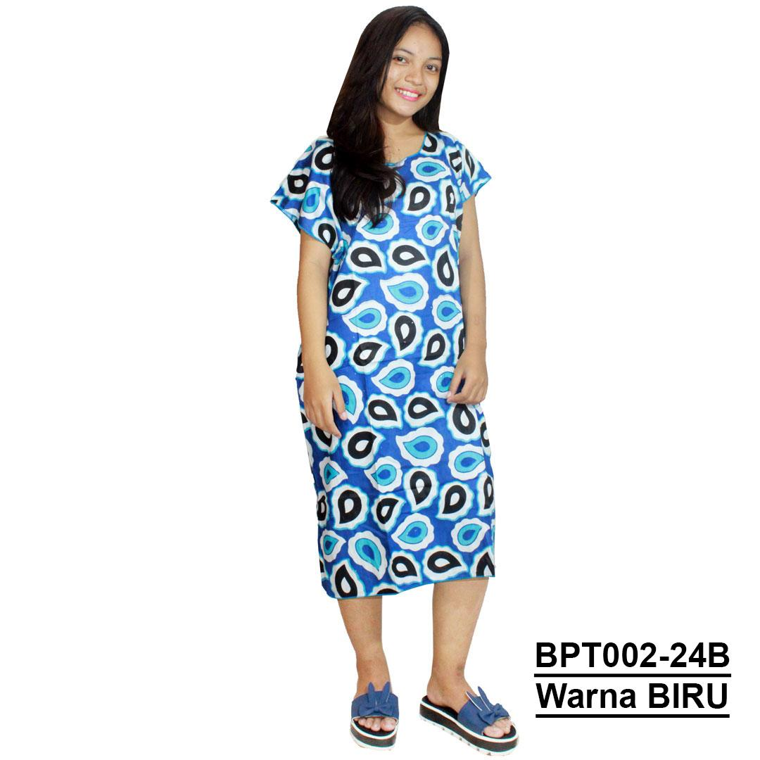 Midi, Daster Midi, Dress Santai, Baju Tidur, Piyama, Atasan Batik (BPT002-24) Batikalhadi Online