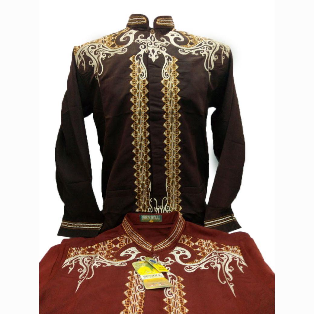 Baju Koko Pria Lengan Panjang - Kemeja Muslimin Pria - Fashion Pria Muslim - merk Benhill Original - Toko Sumber Rejeki Jeans