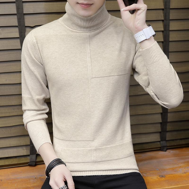 Korean Style Men High Collar Long Neck Winter Base Hair Clothes Students of  Scarf Sub- cd48059ae