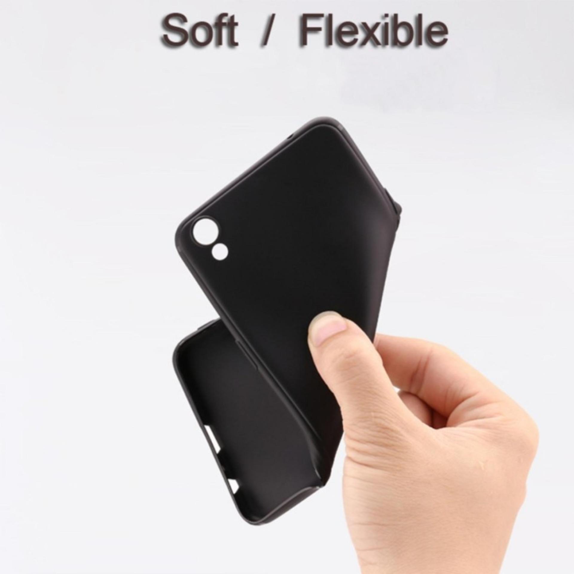 ... Case Slim Black Matte Oppo R9 / F1 Plus Baby Skin Softcase Ultra Thin Jelly Silikon
