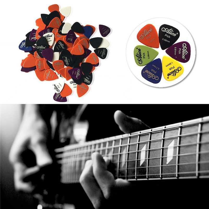Pick Gitar Akustik 50 Pc Universal Guitar Petikan Alat Bantu Memetik Gitar Acoustic Picks Instrumen Musik Music Instrument Suara Profesional Lebih Bertenaga Presisi Bentuk Tipis Halus Minimize Errors Aksesoris Ausio Video s1205 - Multicolor