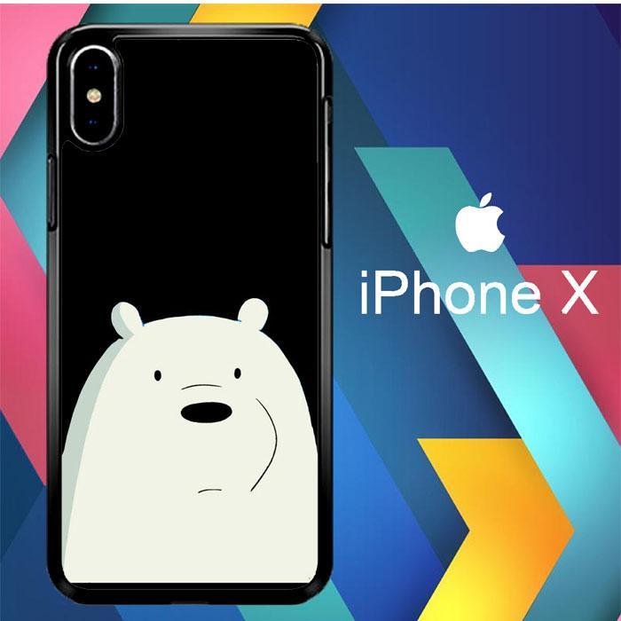 Casing iPhone X Custom Hardcase Bare Bears Alone L0030 Case Cover