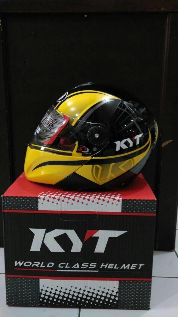 Helm KYT Xrocket X Rocket Black Yellow Flou Glossy Roket Fullface