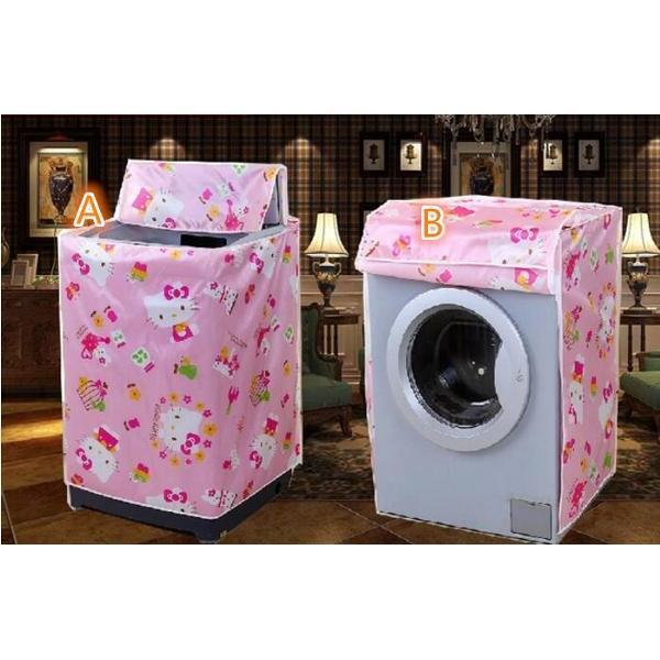 Serba Grosir Murah Type B Cover Mesin Cuci Bahan Satin motif Hello Kitty Tebal Buka Depan