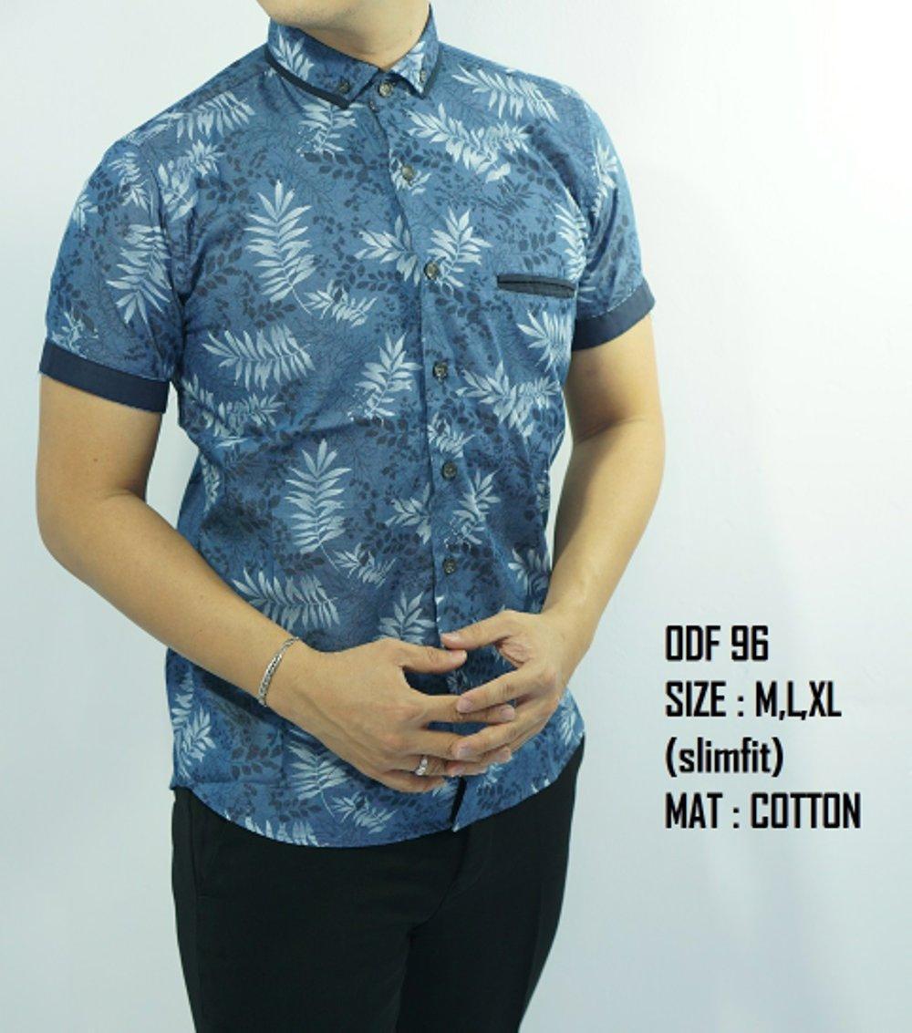 Kemeja Batik Fashion Slimfit ODF96.           ( fashion pria batik slimfit reguler jas dasi hem blazer jaket sweater kaos oblong tshirt polo celana jeans couple pakaian muslim gamis dress blouse baju koko) di lapak New Trendy newtrendy
