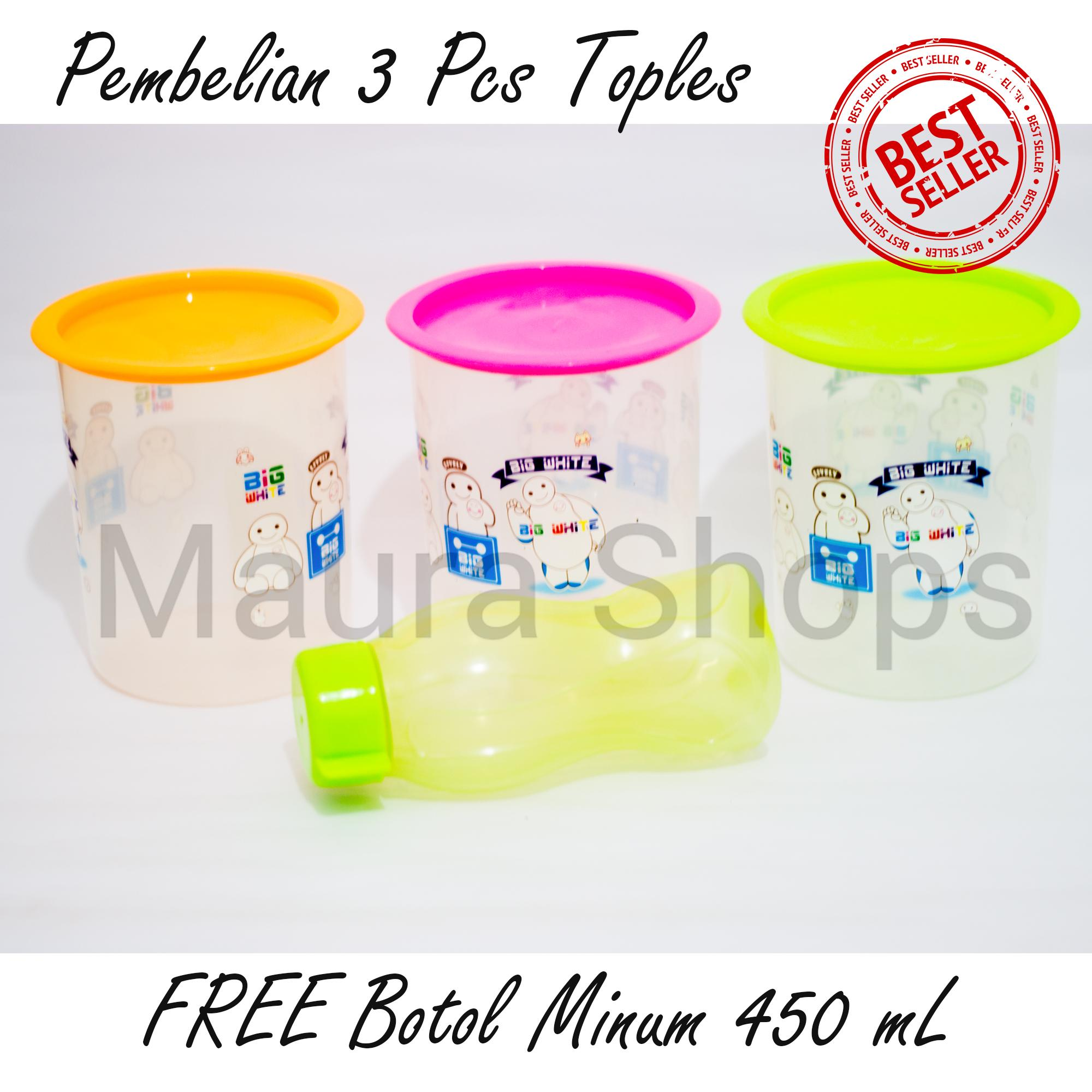 PAKET 3 Toples Nepples Untuk Kue BONUS Botol Minum 450 ml