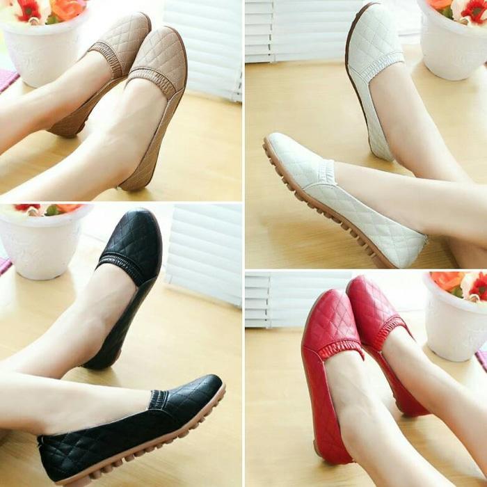 New Arrival Sepatu Wanita Flatshoes Channel BLD04 Sale!