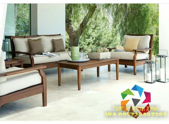 Kursi sofa kayu minimalis, Kursi jati. PESONA JEPARA 115