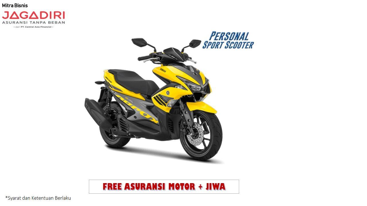 Yamaha Aerox 155 VVA - Kuning (OTR JADETABEK) 2018