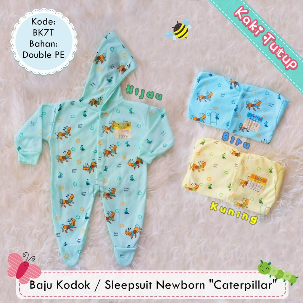 PROMO  Baju Kodok Sleepsuit Jumper Hoodie Bayi Newborn Motif Murah - Kaki Tutup  Terbaru