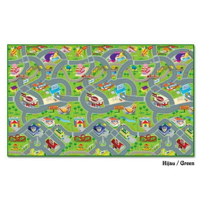 Tikar Evamatic / Evamat / Evamats Matras Alas Lantai Karpet CITY MAP new motif