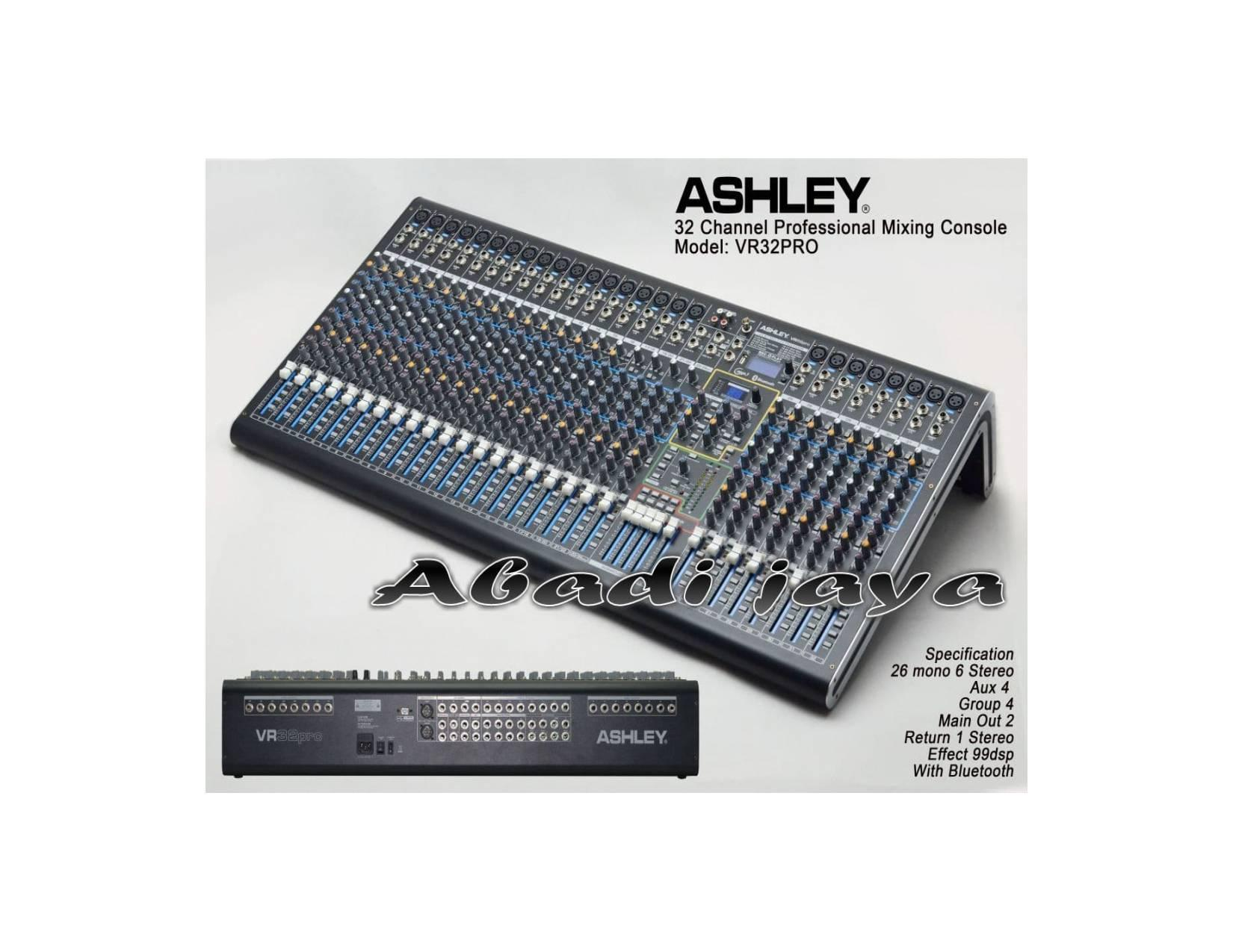 new Mixer ASHLEY VR32PRO 32channel