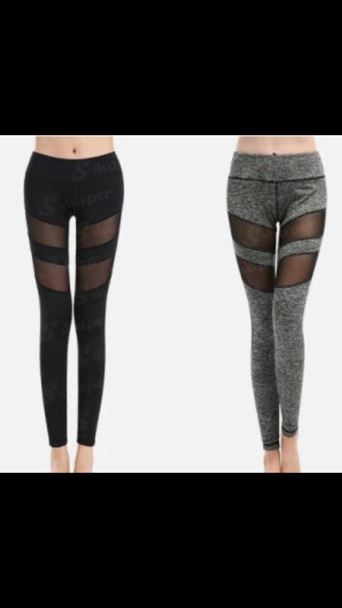 PANACHE - Sport Fitness S3xy Leggings / Yoga Pants with Mesh Panel - I5i772