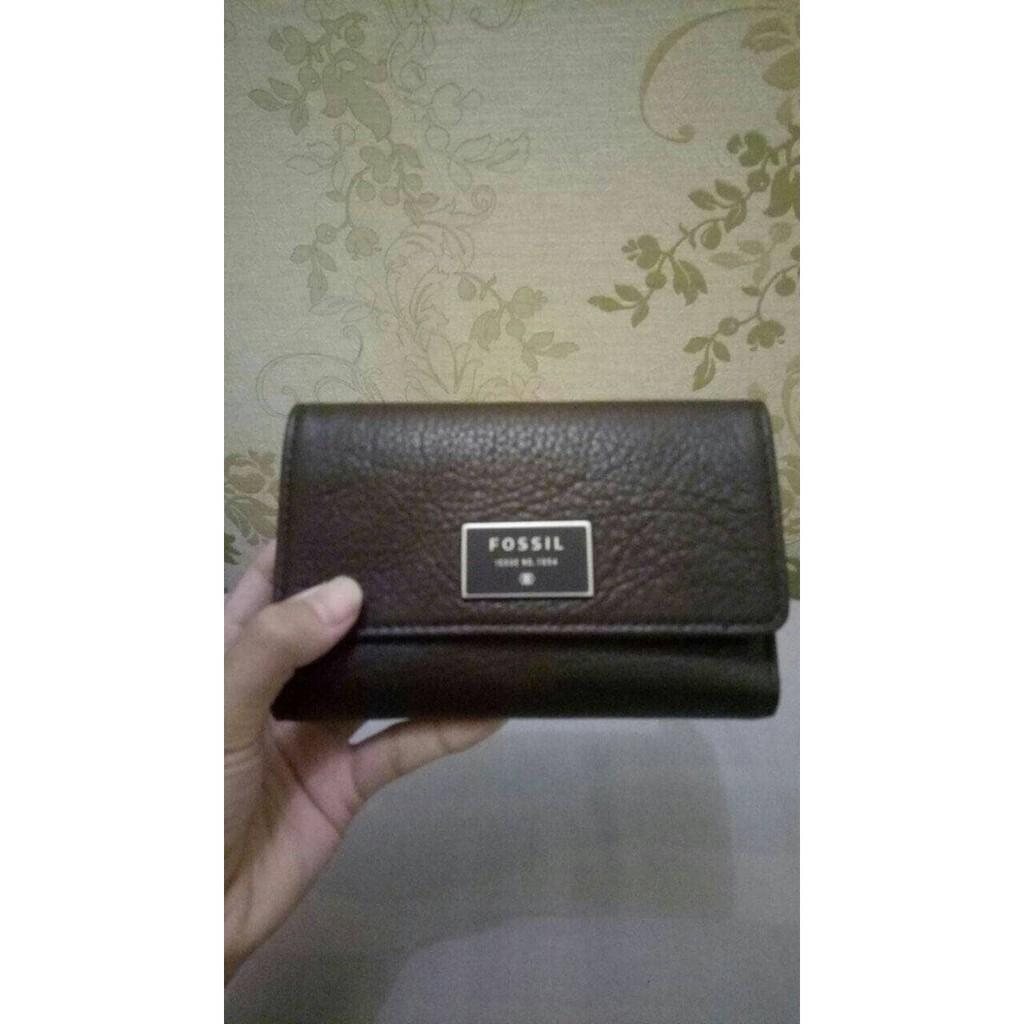 Buy Sell Cheapest Ready Fossil Dawson Best Quality Product Deals Satchel Espresso Trifold Wallet