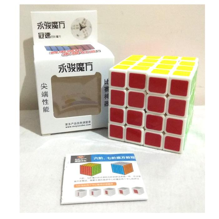 Rubik 4X4 Yongjun MOYU Base Putih - Speed Edition / Rubik Speed