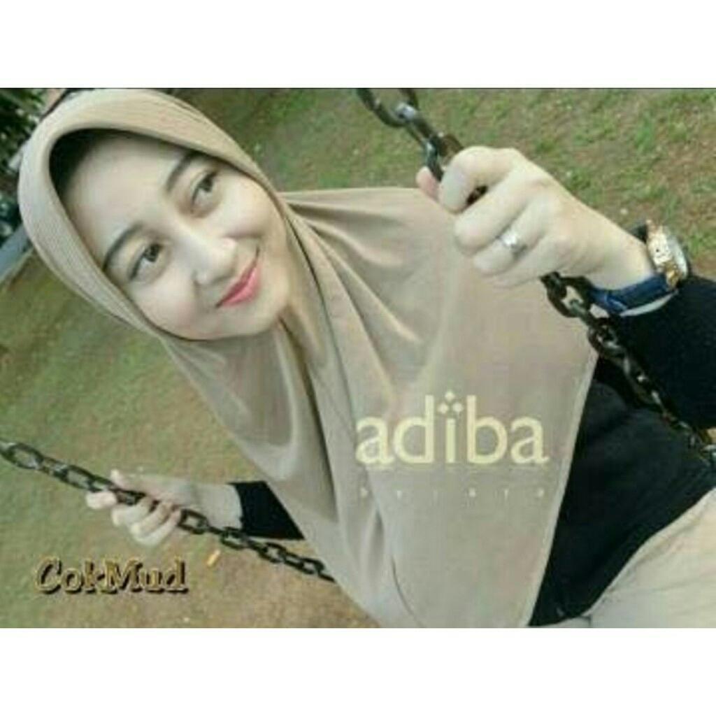 MochiMochiFashion Jilbab Adiba Serut Jokowi - Cream