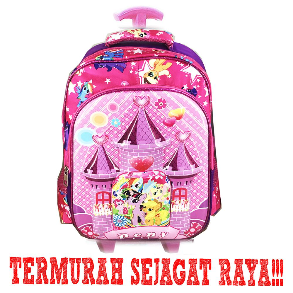 BGC Tas Troley Sekolah Anak SD My Little Pony Castle 6D Timbul IMPORT - Full Motif Pony