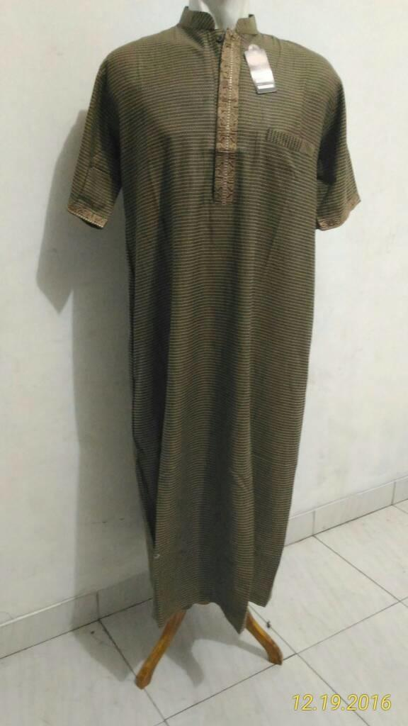 baju muslim / gamis laki laki / jubah arab lengan pendek / jubah pria