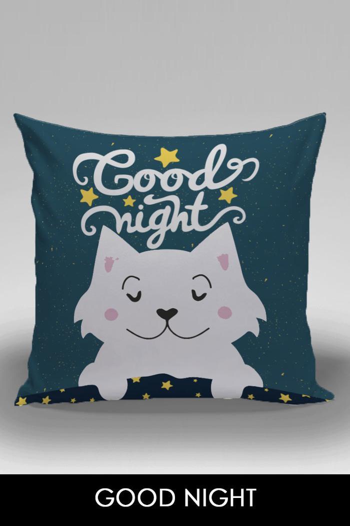 Bantal Dekorasi Sofa / Mobil Alphabet - Good Night - qMNxog