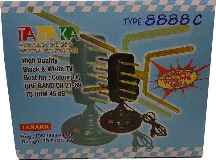 Antena Indoor Multiplex system UHF dan VHF Merk TANAKA 8888C
